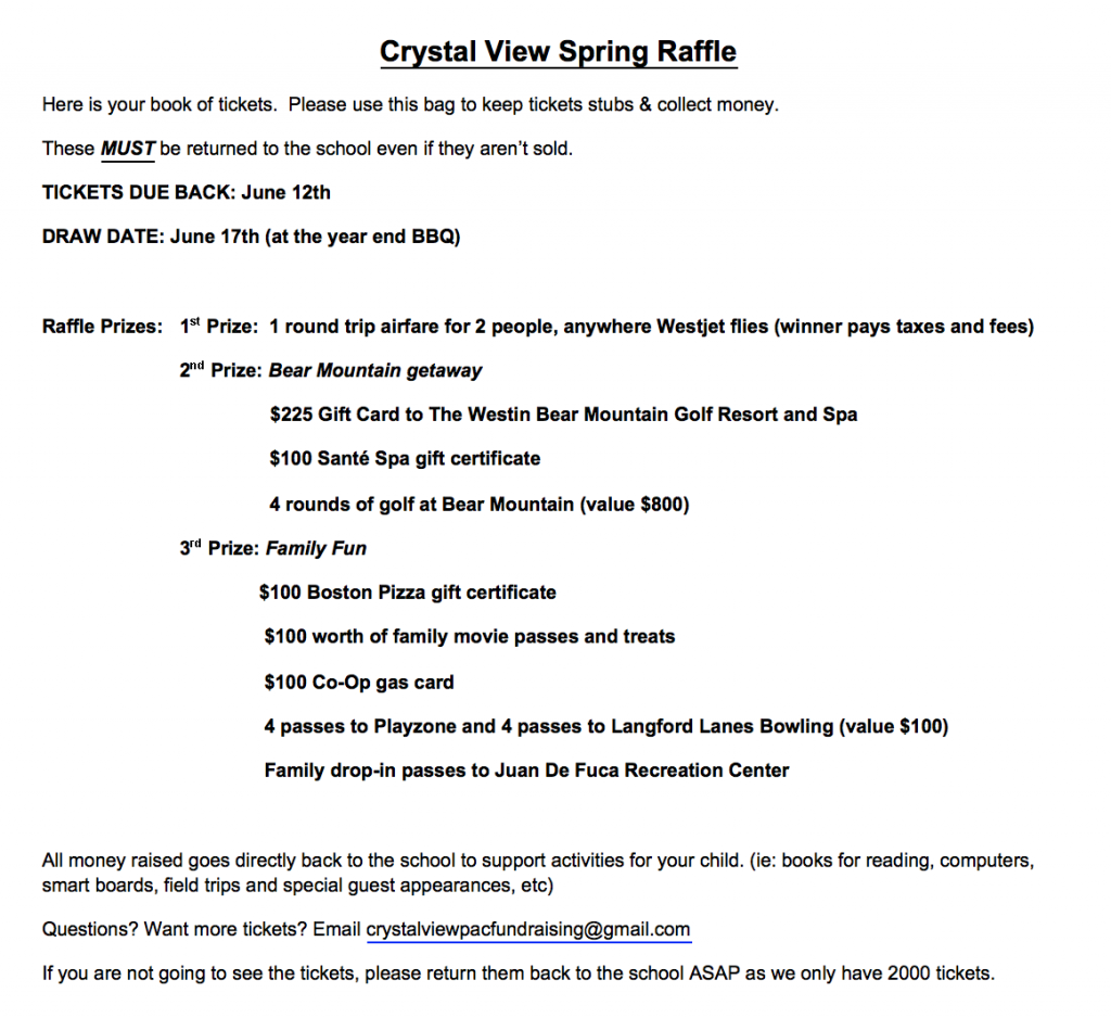 PAC Fundraising | Crystal View